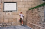 A much younger me trying to scale the Great Wall of China. I did not succeed.