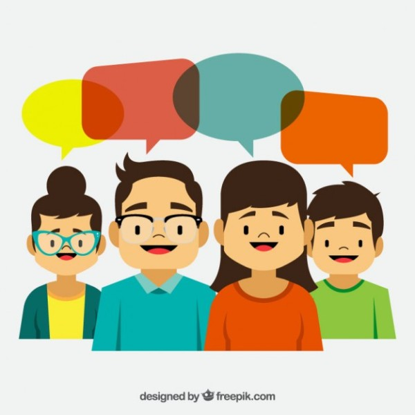 cartoon-people-with-colores-speech-bubbles_23-2147529518