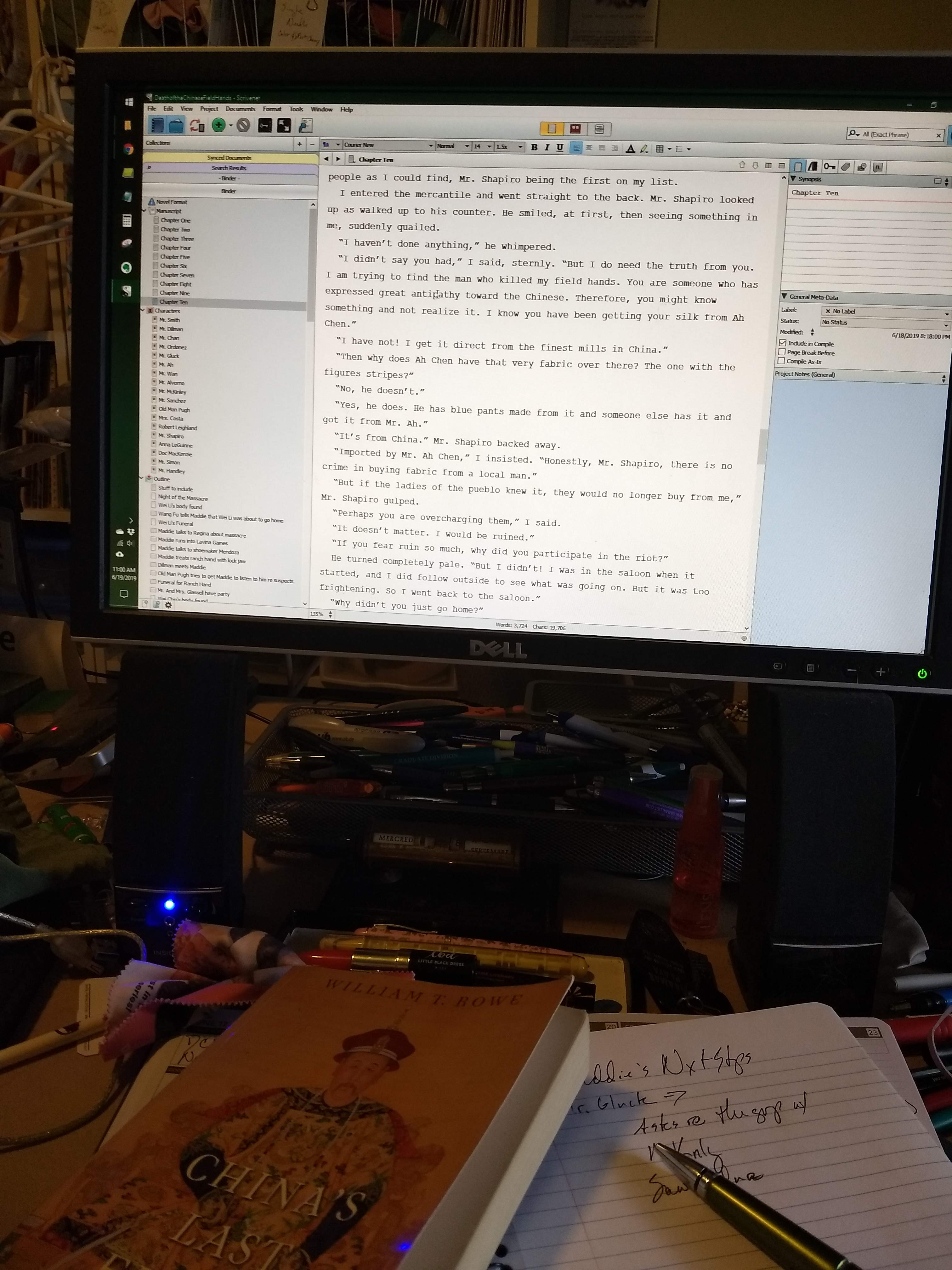 Photo of Anne Louise Bannon's desktop to illustrate why she's writing such a quick introduction.